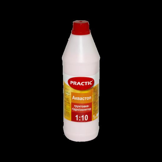 Грунтовка-гідроізолятор PRACTIC АКВАСТОП, концентрат 1:10, 1Л