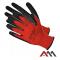 """Рукавиці захисні RWnylB+R розмір 10 kat.1 """"ART MAS""""(червоно-чорні, з поліестеру)"""