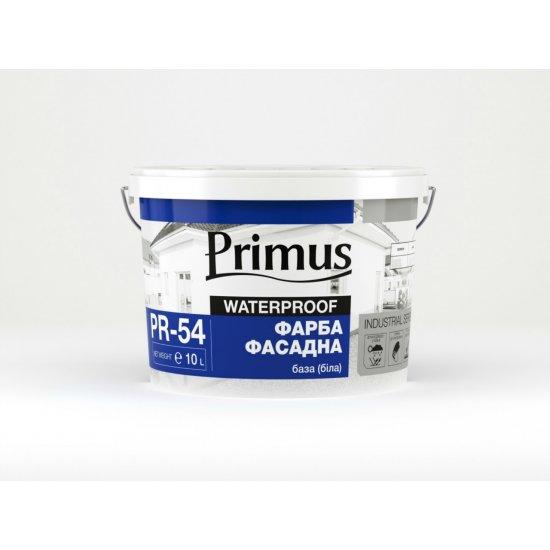 """Фарба акрилова фасадна """"Primus"""" база (біла), 10 л"""