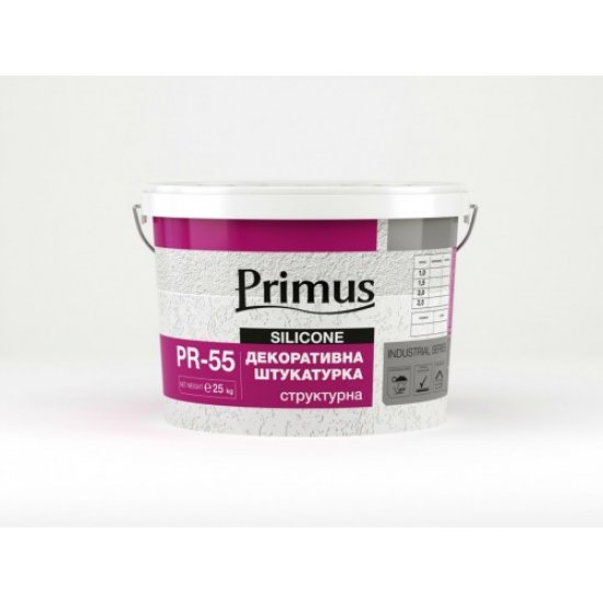 "Акрилова штукатурка Primus, ""Шуба"" (фракція 1,5; 2), 25 кг"