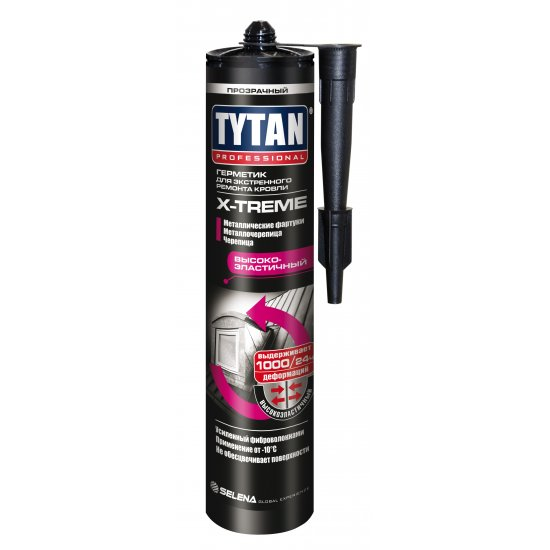 Tytan Professional Герметик  для екстреного ремонту кровлі X-treme безколірний 310 мл