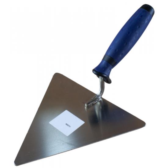 Кельма трикутна нержавіюча ручка гумова 180 мм.WoffMann