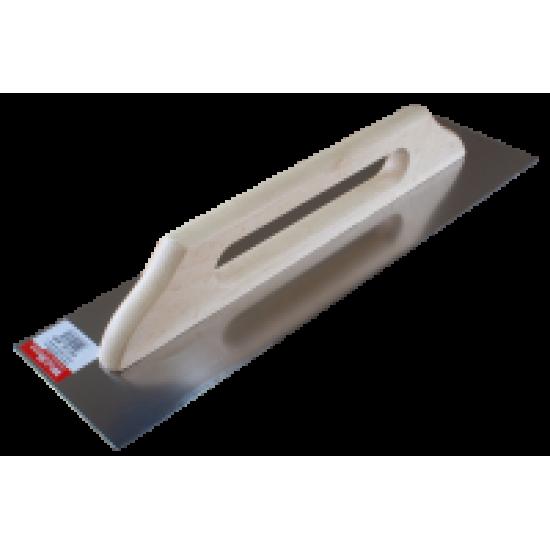 Терка з нержавійки, ручка деревяна 130x480 гладка WoffMann
