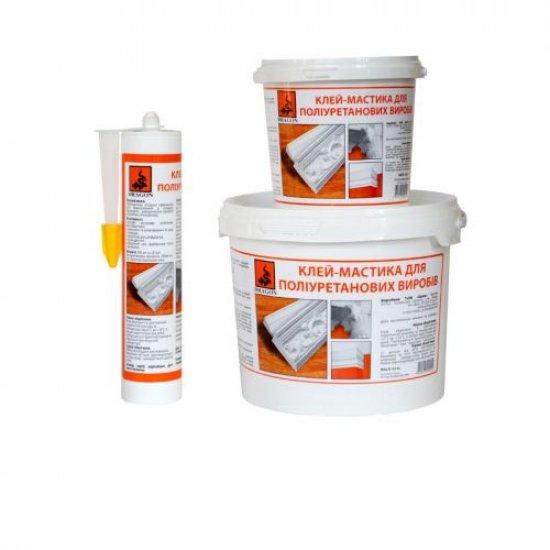 """Клей-мастика для поліуретанових виробів """"PRIMUS"""" (для приклеювання тяжких багетів, гіпсових ) 1,5 кг"""