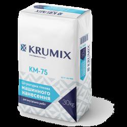 KM-75 KRUMIX Штукатурка гіпсова машинного нанесення, 30 кг.