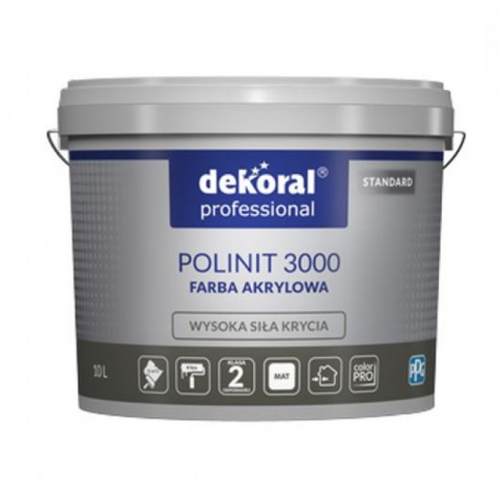Dekoral POLINIT 3000 база, фарба біла фасадна, 10л