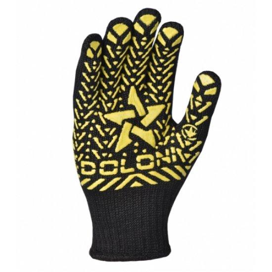 Рукавички трикотажні чорні з жовтою зіркою, арт. 562