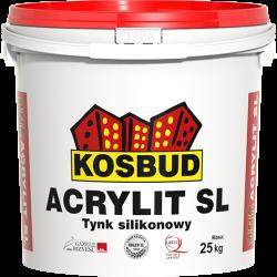 """Штукатурка силіконова, KOSBUD ACRYLIT-SL, """"баранець"""", світла база, 25 кг"""