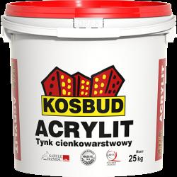 "Штукатурка акрилова KOSBUD ACRYLIT, ""баранець"", світла база, 25 кг"