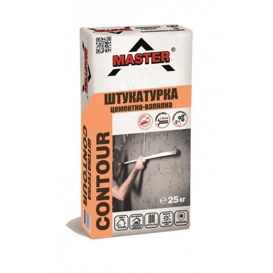 MASTER CONTOUR Штукатурка цементно-вапняна для підготовки та вирівнювання поверхонь, 25 кг