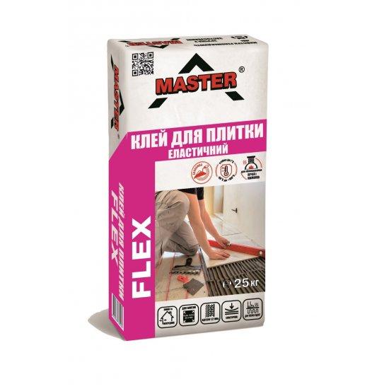 MASTER FLEX Клейова високоеластична суміш  для всіх видів поверхонь та плиток, 25 кг