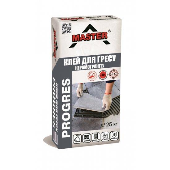 MASTER PROGRES Клейова суміш для облицювання керамогранітом, 25 кг