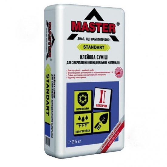 MASTER STANDART Клейова суміш для закріплення облицювальних матеріалів, 25 кг