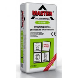 MASTER G-START Штукатурка гіпсова для вирівнювання та ремонту поверхонь, 5 кг