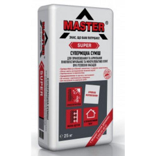 MASTER SUPER Клейова і армуюча суміш для систем теплоізоляції літо/зима, 25кг