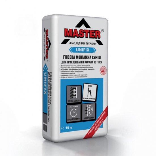 MASTER UNIFIX Клей гіпсовий монтажний для гіпсокартону,15 кг