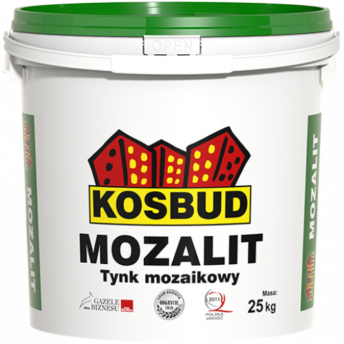 Штукатурка мозаїчна акрилова, KOSBUD MOZALIT, серія ЕХ, 25 кг