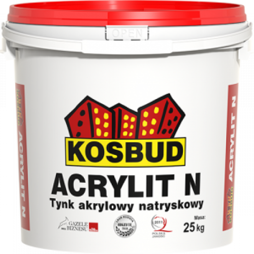 """Акрилова штукатурка машинного нанесення KOSBUD ACRYLIT-N """"баранець"""", зерно 1,5,світла база"""