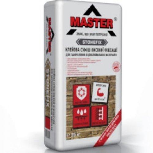 MASTER STONEFIX Клейова суміш високої фіксації, 25 кг