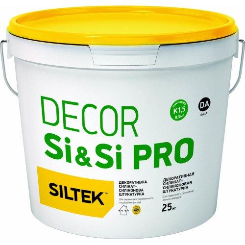 """Siltek Si&Si Pro Силікат-силіконова декоративна штукатурка, """"камінцева"""" 1,5 мм, База DA, 25 кг"""