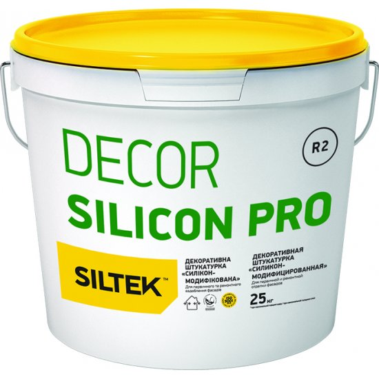 "Siltek Decor Silicon Pro Штукатурка декоративна силіконова ""Камінцева"" (1,5 або 2,0 мм), база DА (25 кг)"
