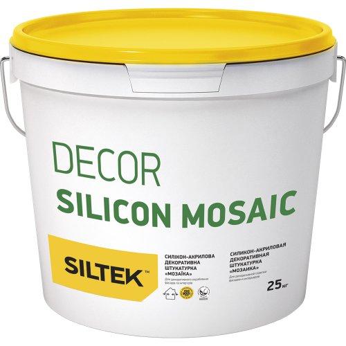 Siltek Decor Silicon Mosaic Силікон-акрилова декоративна штукатурка «Мозаїка» (зерно 1,2- 1,6 мм), 25 кг