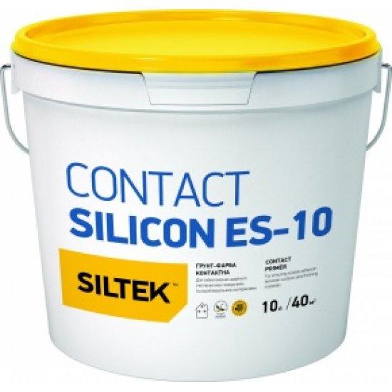 Siltek Contact Silicon ES-10 Ґрунт-фарба контактна силіконова, база ЕС, 10л