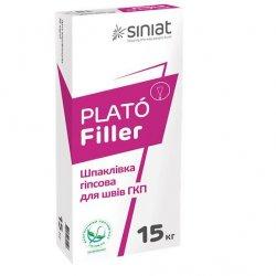 PLATO FILLER Шпаклівка гіпсова для швів та тріщин, 15 кг