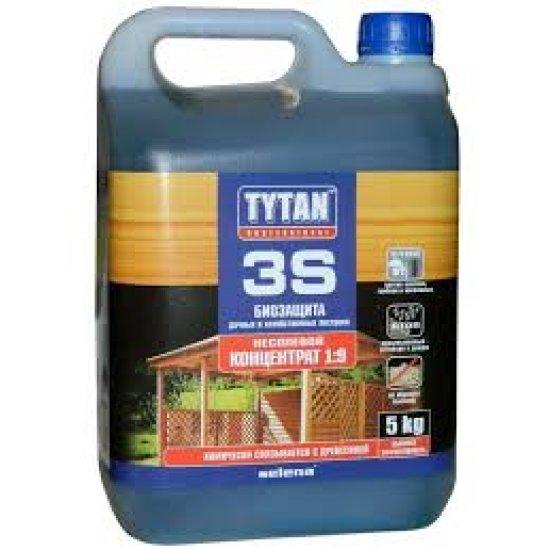 Tytan Деревозахистний засіб 3S УЛЬТРАБІОЗАХИСТ 5 кг зелений