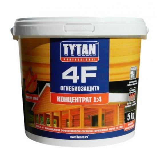Tytan Деревозахисний засіб 4F ВОГНЕБІОЗАХИСТ 5 кг червоний