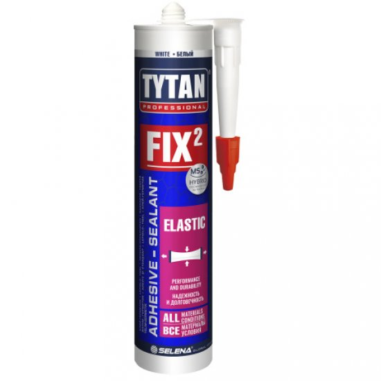 Tytan Professional FIX 2 Elastic клей- герметик, білий, 290 мл