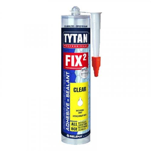 Tytan Professional FIX 2 Clear клей- герметик, прозорий, 290 мл