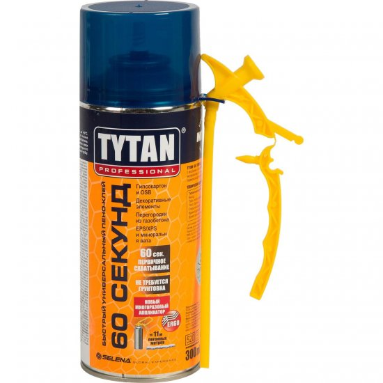 Tytan Швидкий універсальний піно-клей 60 секунд STD  300мл