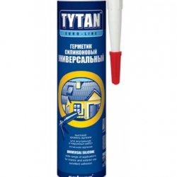 Tytan Euro-Line герметик силіконовий універсальний, 290 мл., білий