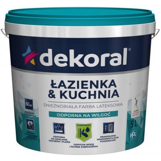 Емульсійна акрилова фарба Dekoral Maleinak Plus  для стін захист від плісняви 5л