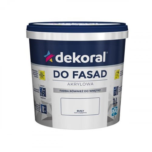 Емульсійна фарба Dekoral POLINIT для фасадів  1л