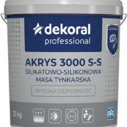 Штукатурка силікатно-силіконова Dekoral Akrys 3000 S-S баранець, біла, 1.5 мм 25 кг