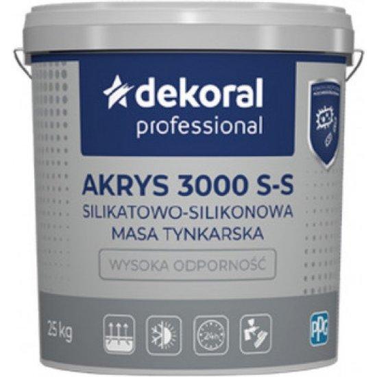 Штукатурка силікатно-силіконова Dekoral Akrys 3000 S-S баранець, прозора, 1.5 мм 25 кг