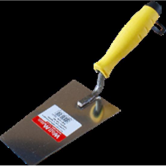 Кельма трапецієвидна нержавіюча ручка гумова 160 мм WoffMann