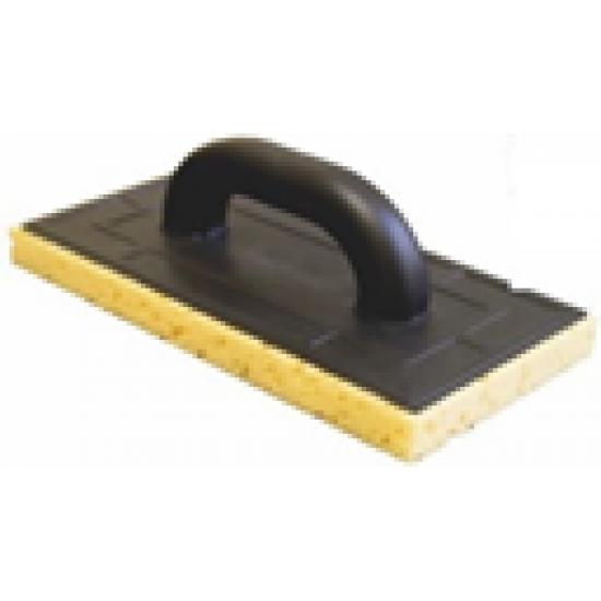 Терка з пластику 130*270 жовта губка пориста 25мм WoffMann