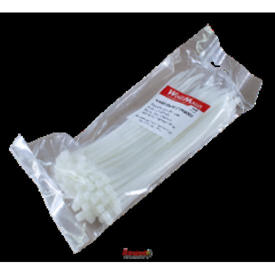 Хомут нейлоновий 5*350 білий б/с (п 100 шт.)WoffMann