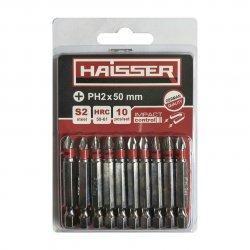 Біта PH2 х 50 мм Haisser, набiр 10шт.