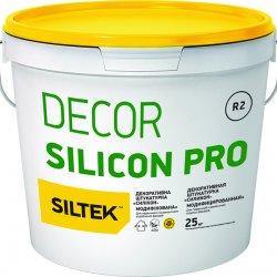 """Siltek Decor Silicon Pro Штукатурка декоративна силіконмодифікована, """"Короїд"""" 2 мм, база DА (25 кг)"""