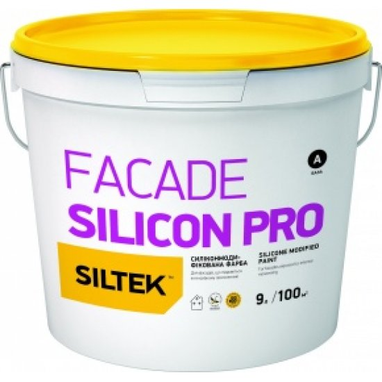 Siltek Facade Silicon Pro Фарба силіконмодифікована преміум-класу. База FА (9 л)
